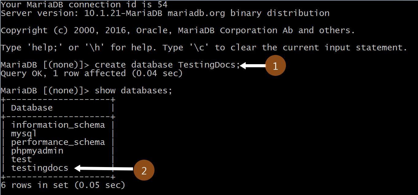 Create Database MySQL