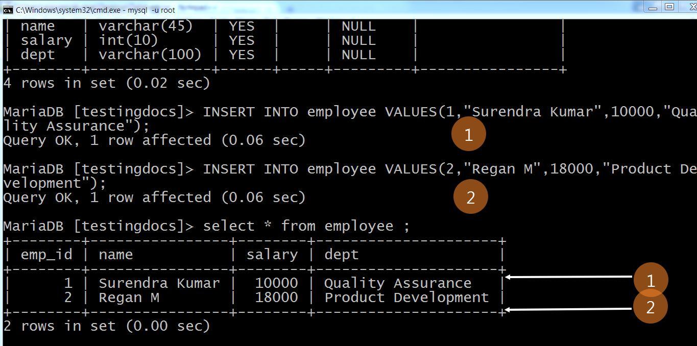 Insert into Table MySQL
