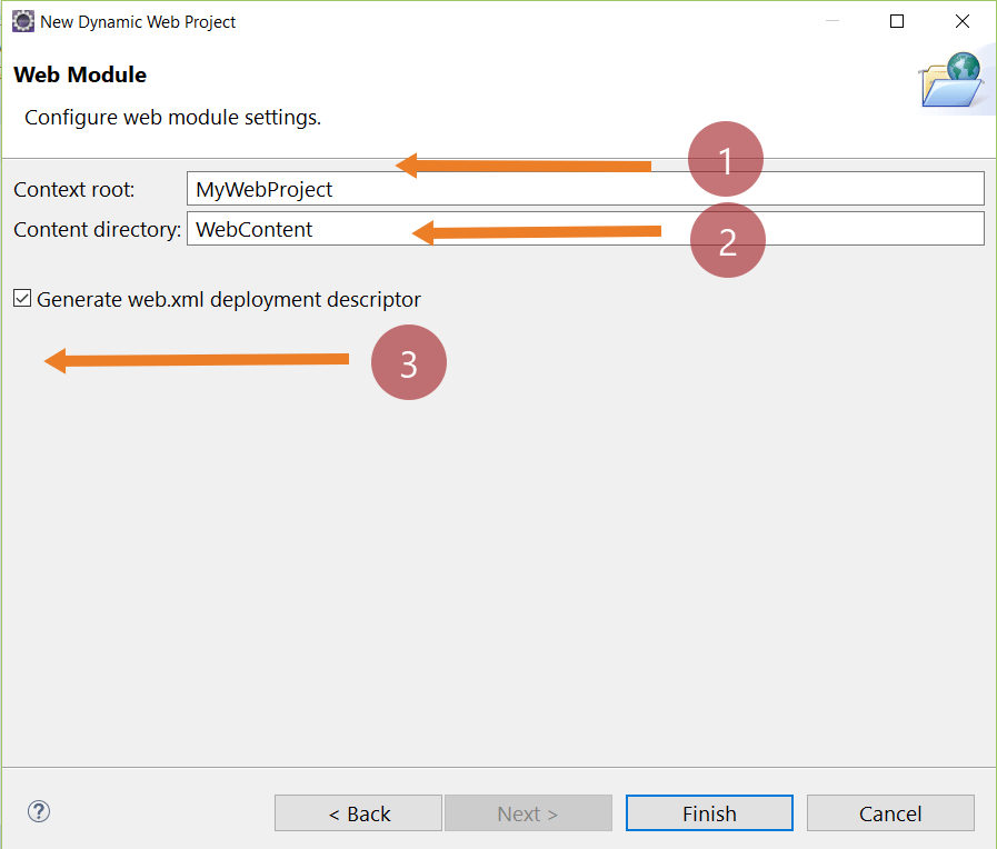 Web Module Settings