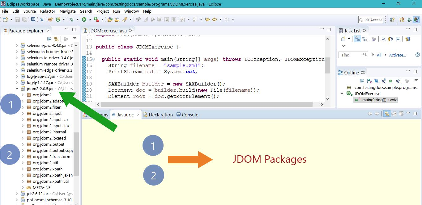 JDOM Packages