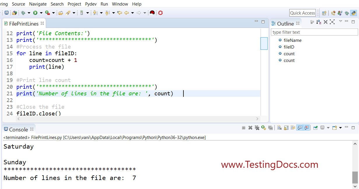 Python File Process Command
