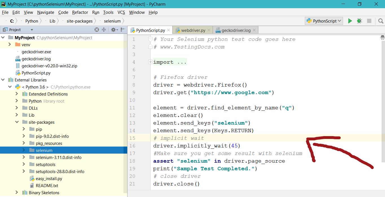 Running a Python Selenium Script | TestingDocs com