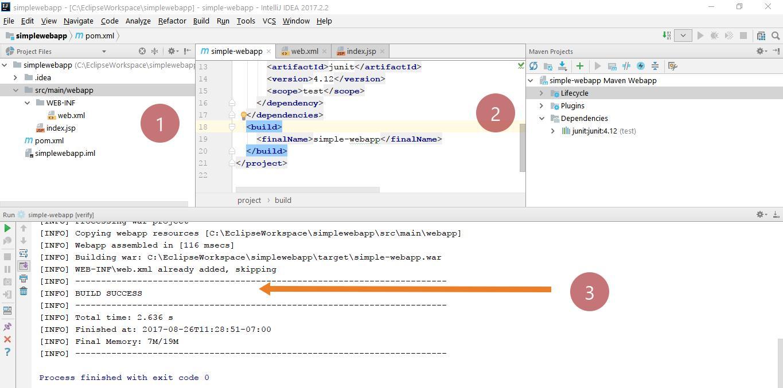 Simple Web application IntelliJ IDEA Maven