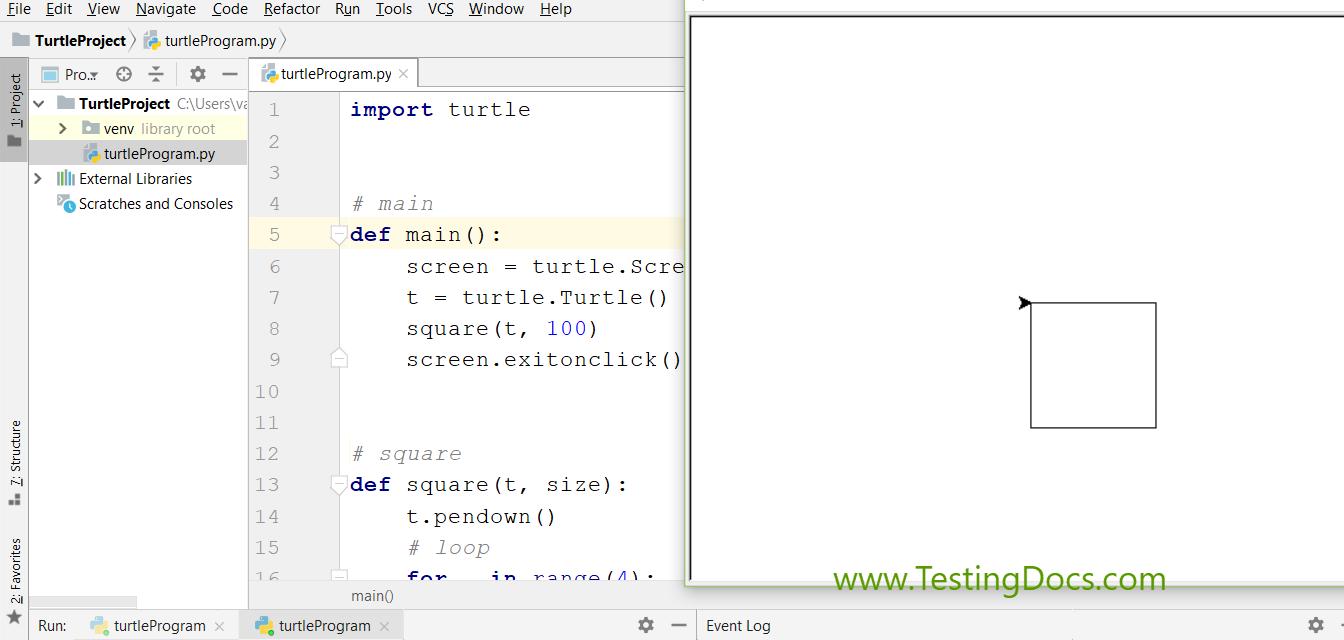 Turtle Square Program