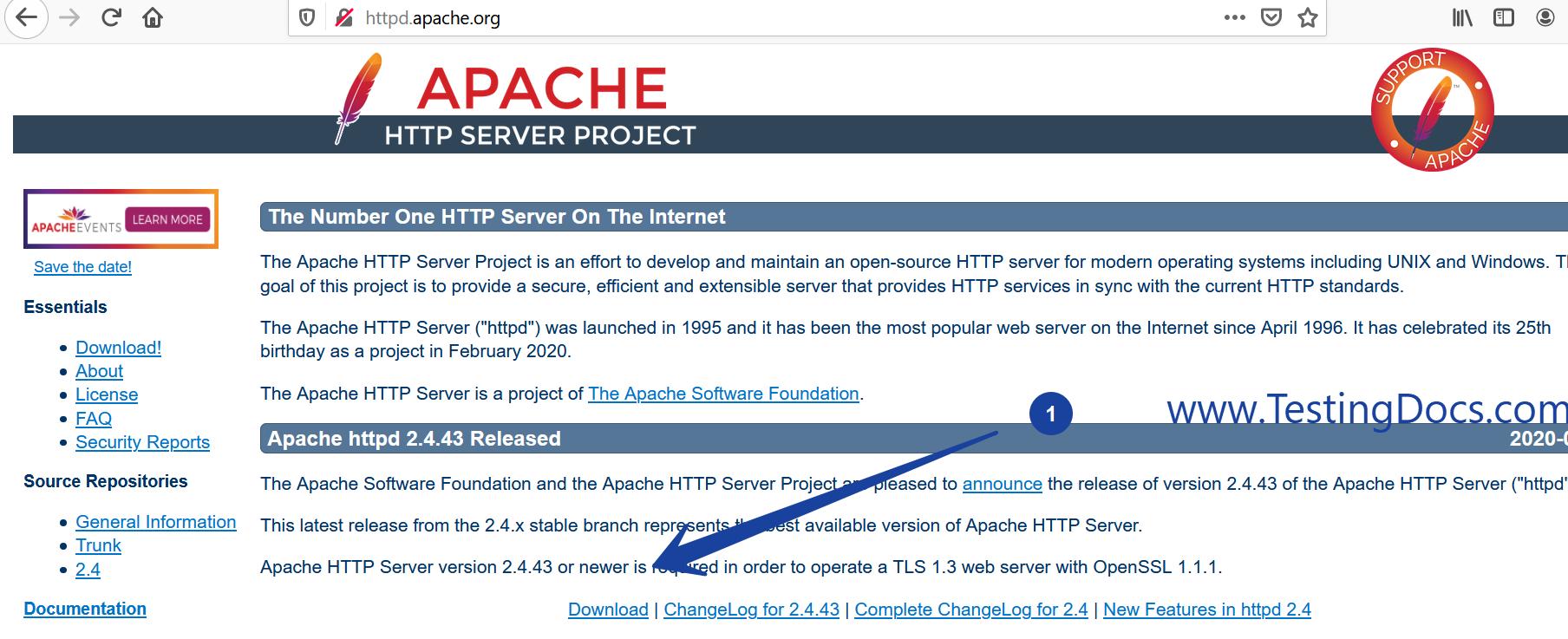 Apache HTTP Server Website