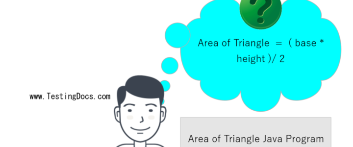 Area of Triangle Java Program