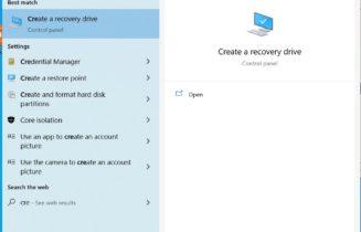 Create Recovery Drive Windows