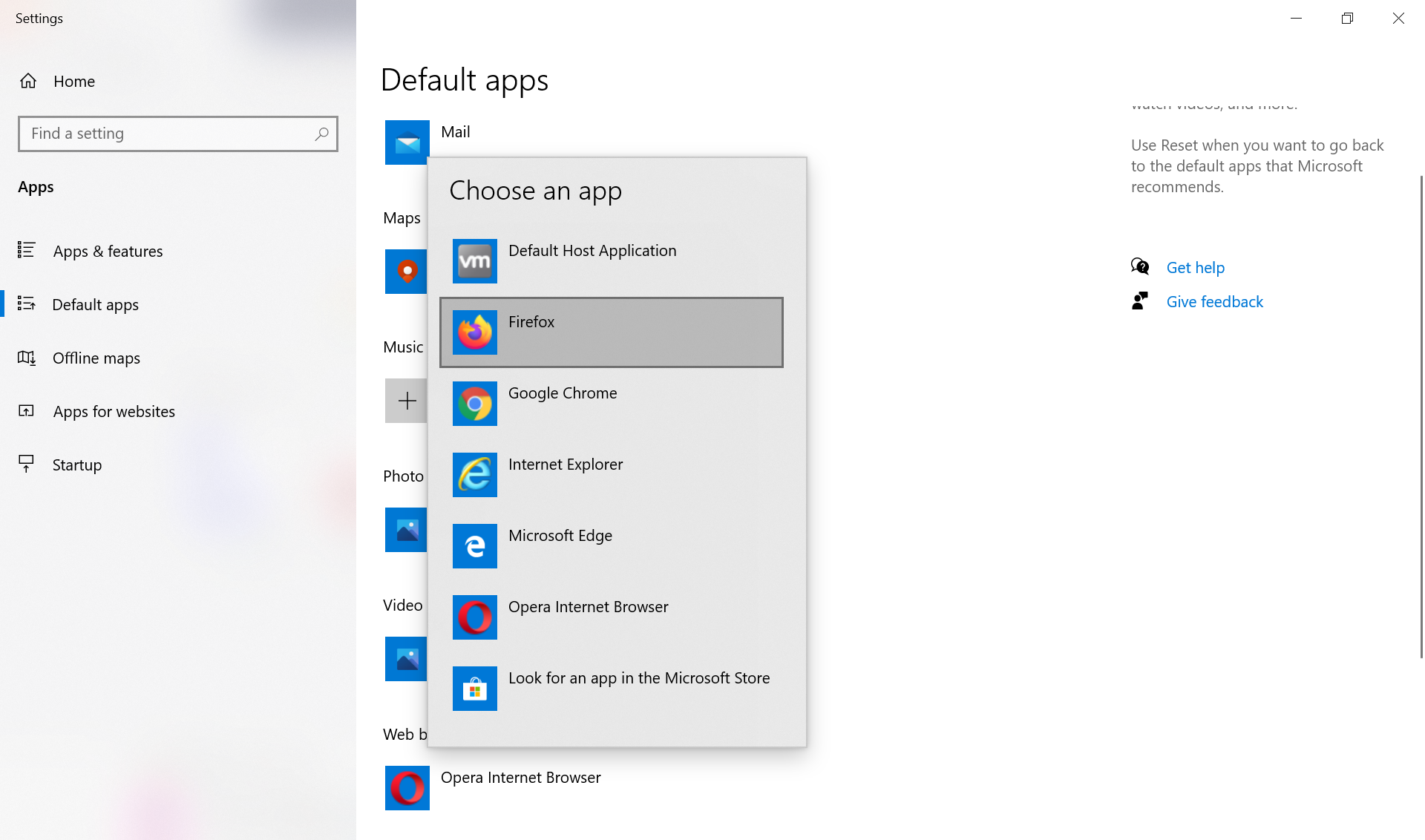 Default Browser Windows 10