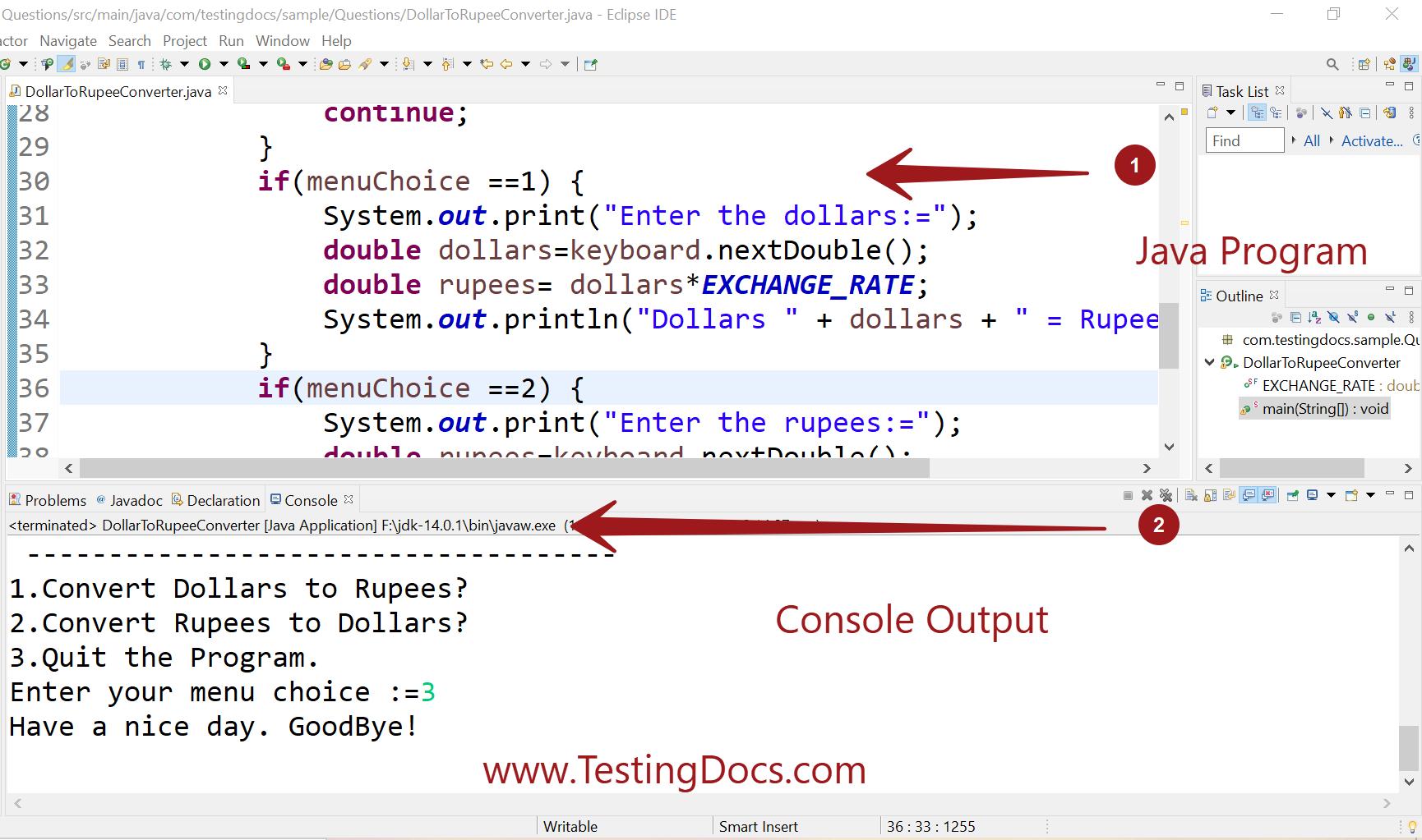 Dollar to Rupee Java Program