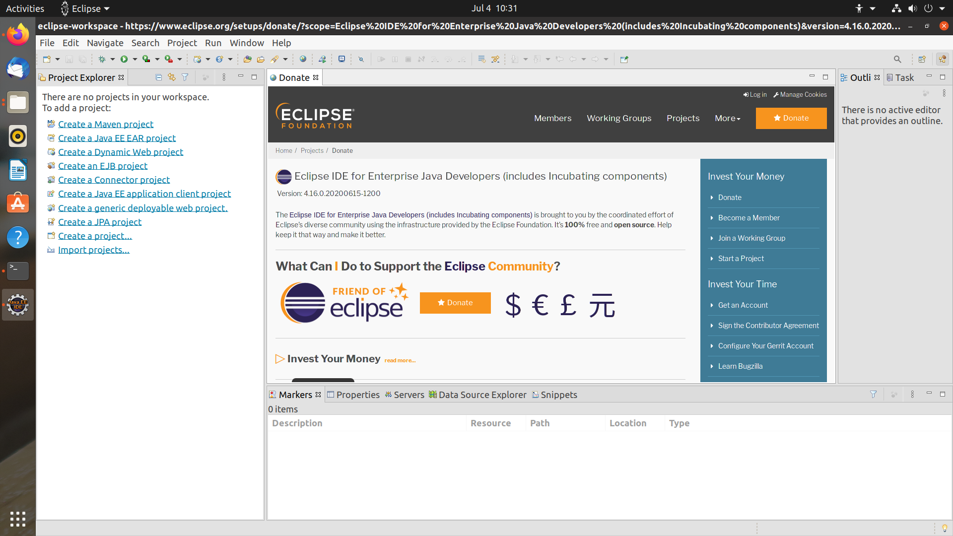 Eclipse IDE on Ubuntu Linux