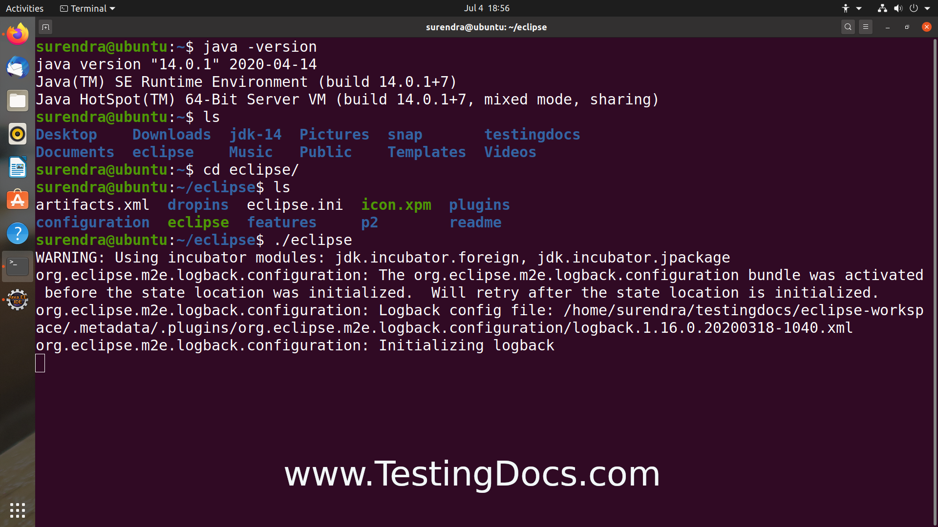 Eclipse launch from Terminal on Linux