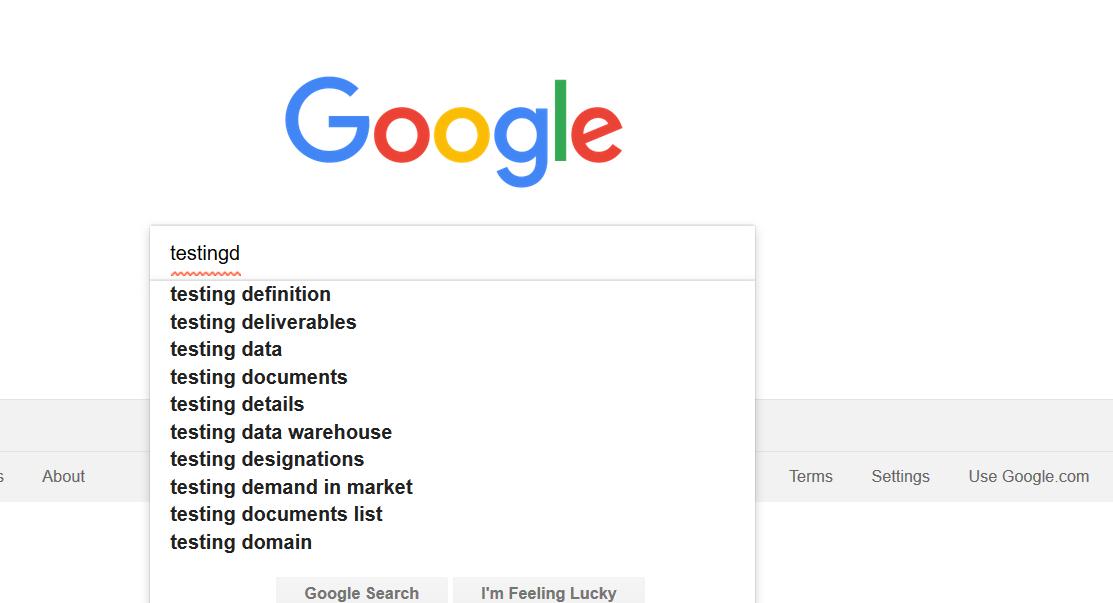 Google Auto Suggestion Box