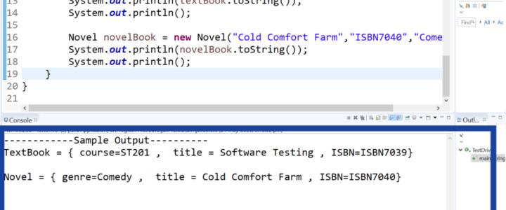 Inheritance Java Program