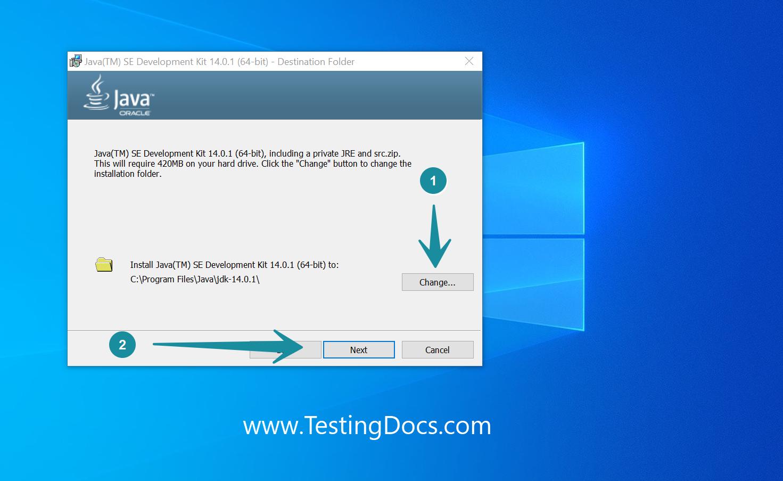 JDK Install Folder