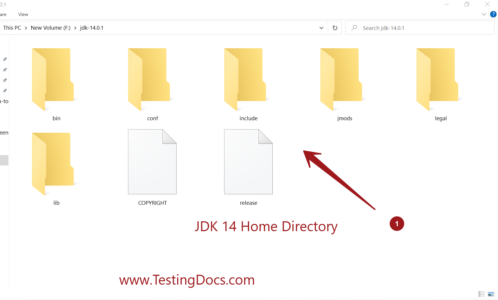 JDK 14 Home Directory