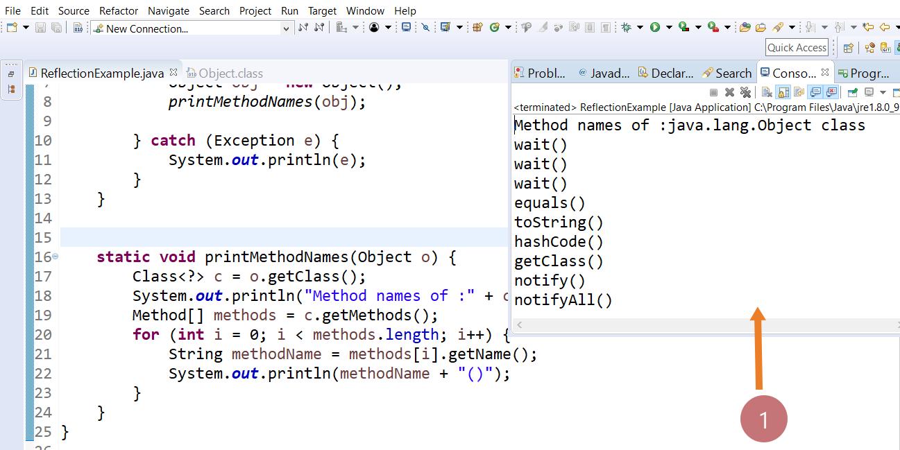 Java Reflection Program