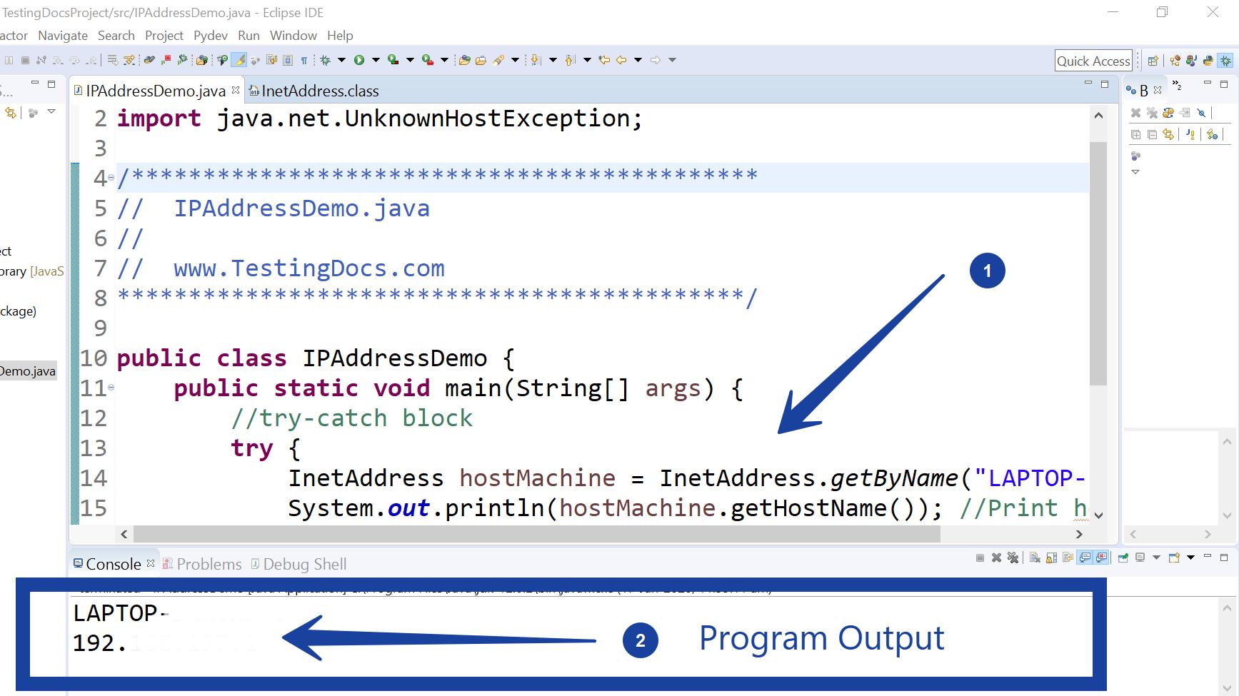 Machine IP Address Java Program