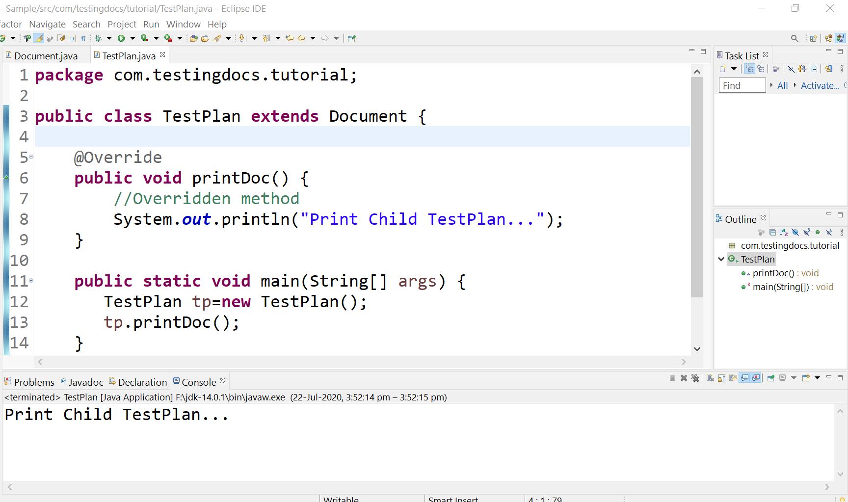 Method Overridding in Java