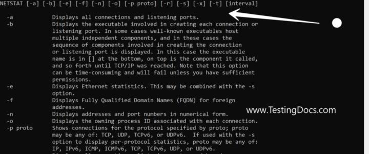 Netstat windows command