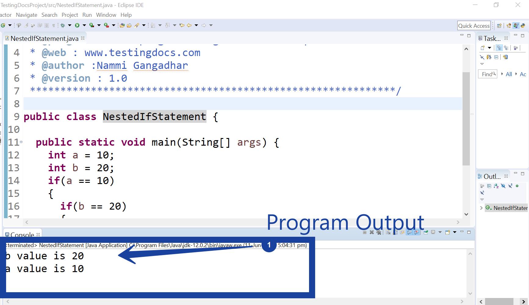 Nested If Statement Java