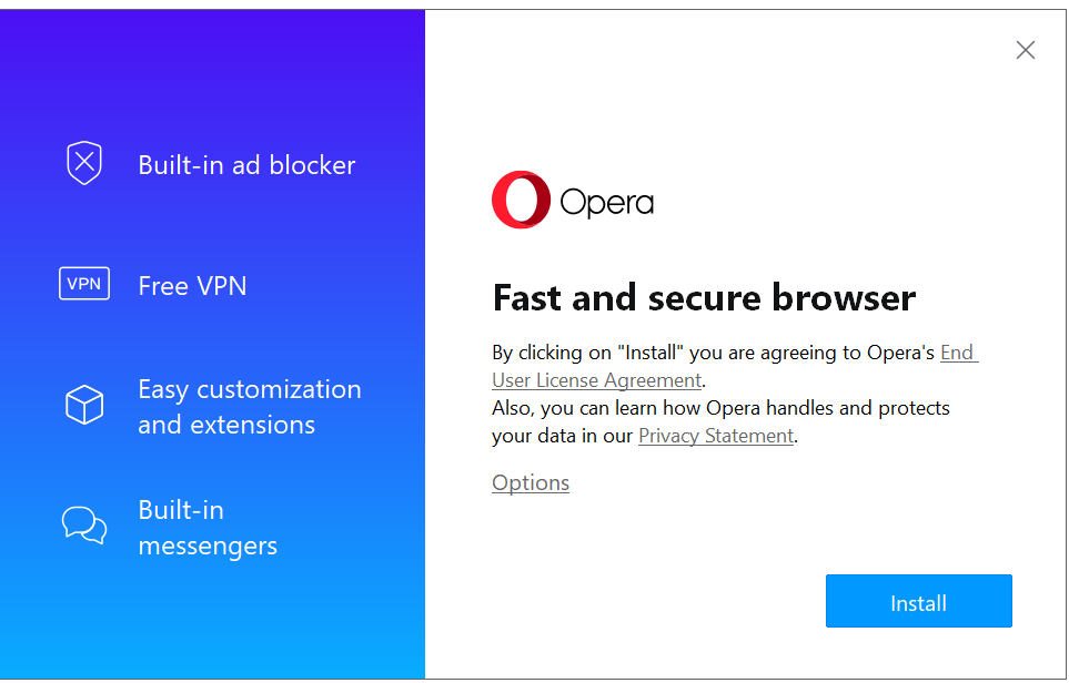 Opera Web Browser Install
