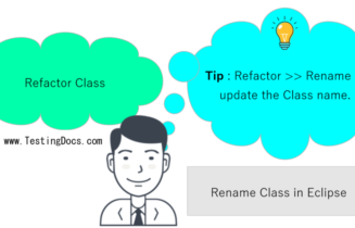 Refactor Update Class name Java Eclipse IDE