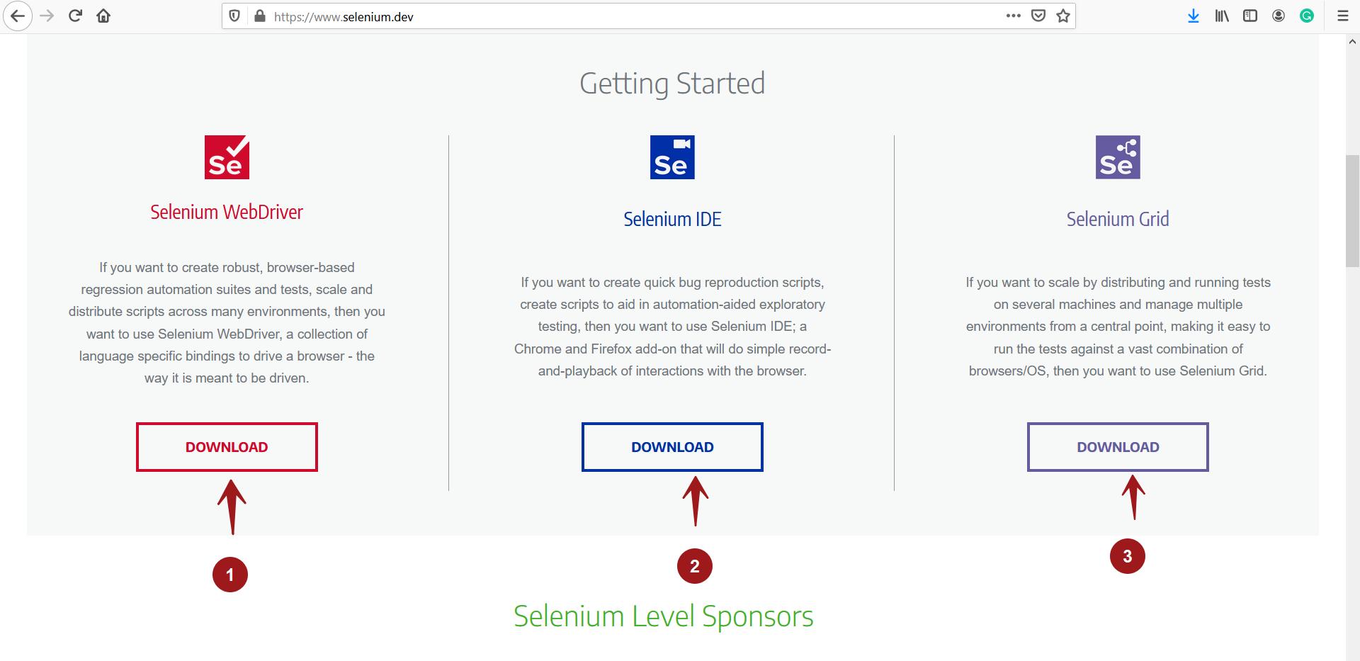 Selenium WebDriver Download