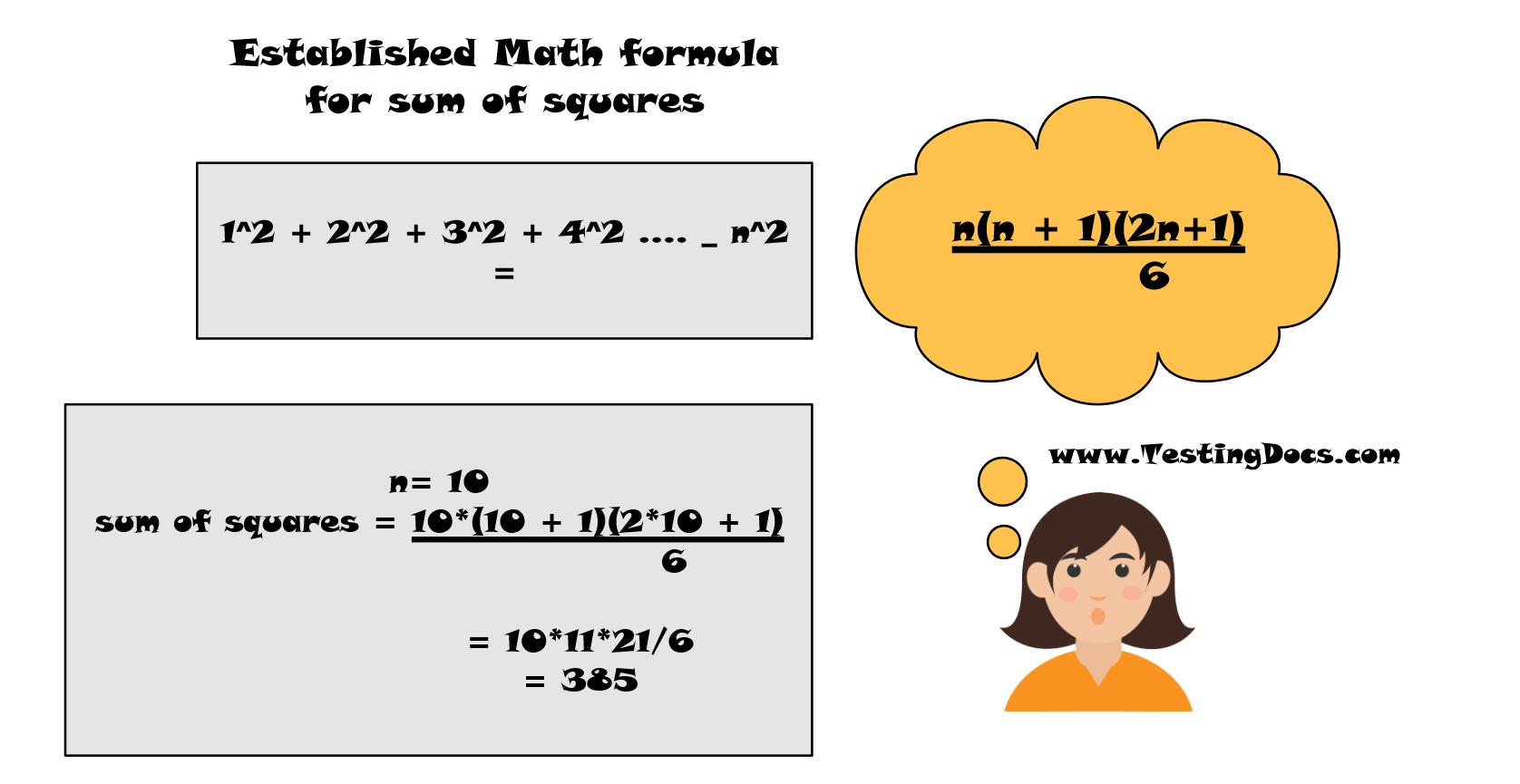 Sum of Squares Math Formula
