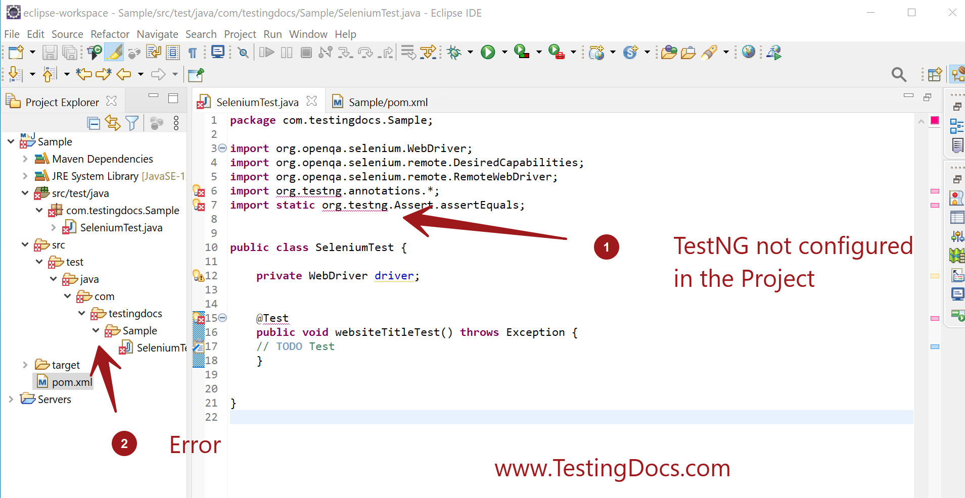 TestNG Configuration in Selenium Project