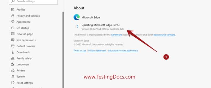 Update Microsoft Edge Browser