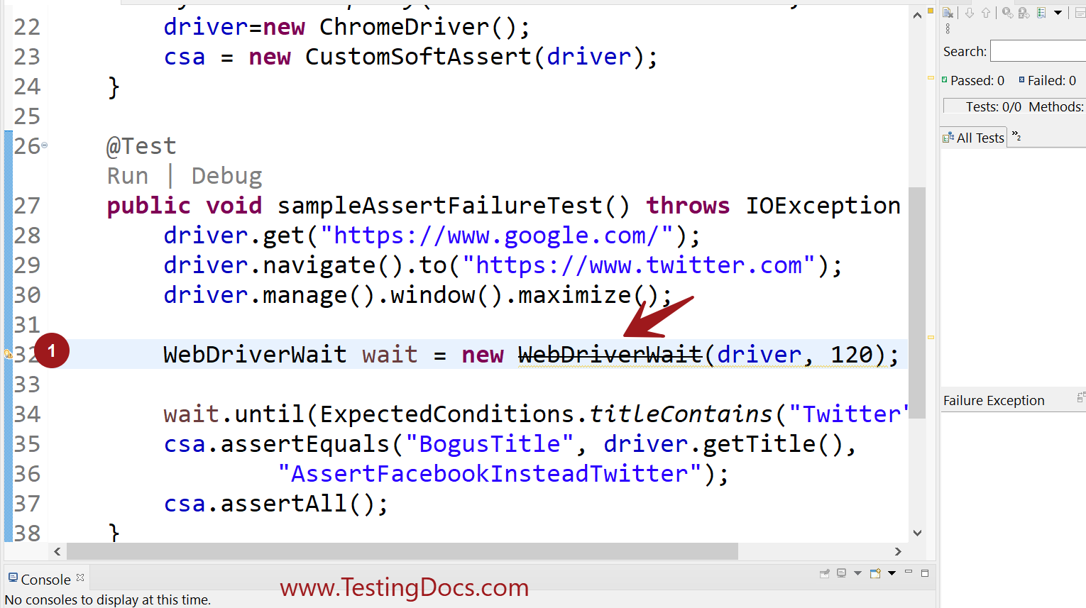 How to fix WebDriverWait deprecated message in Selenium tests?