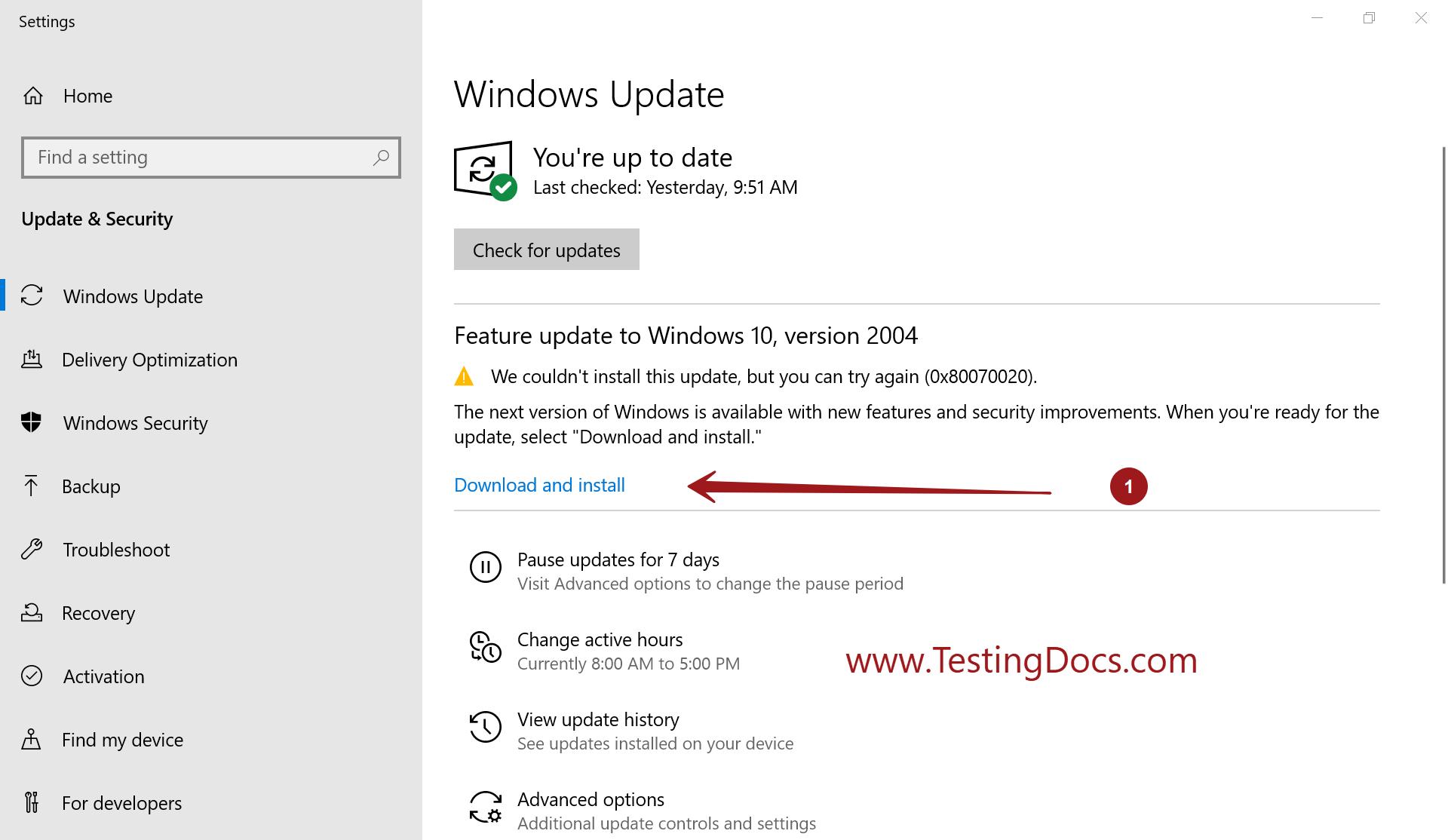 Windows Feature Update