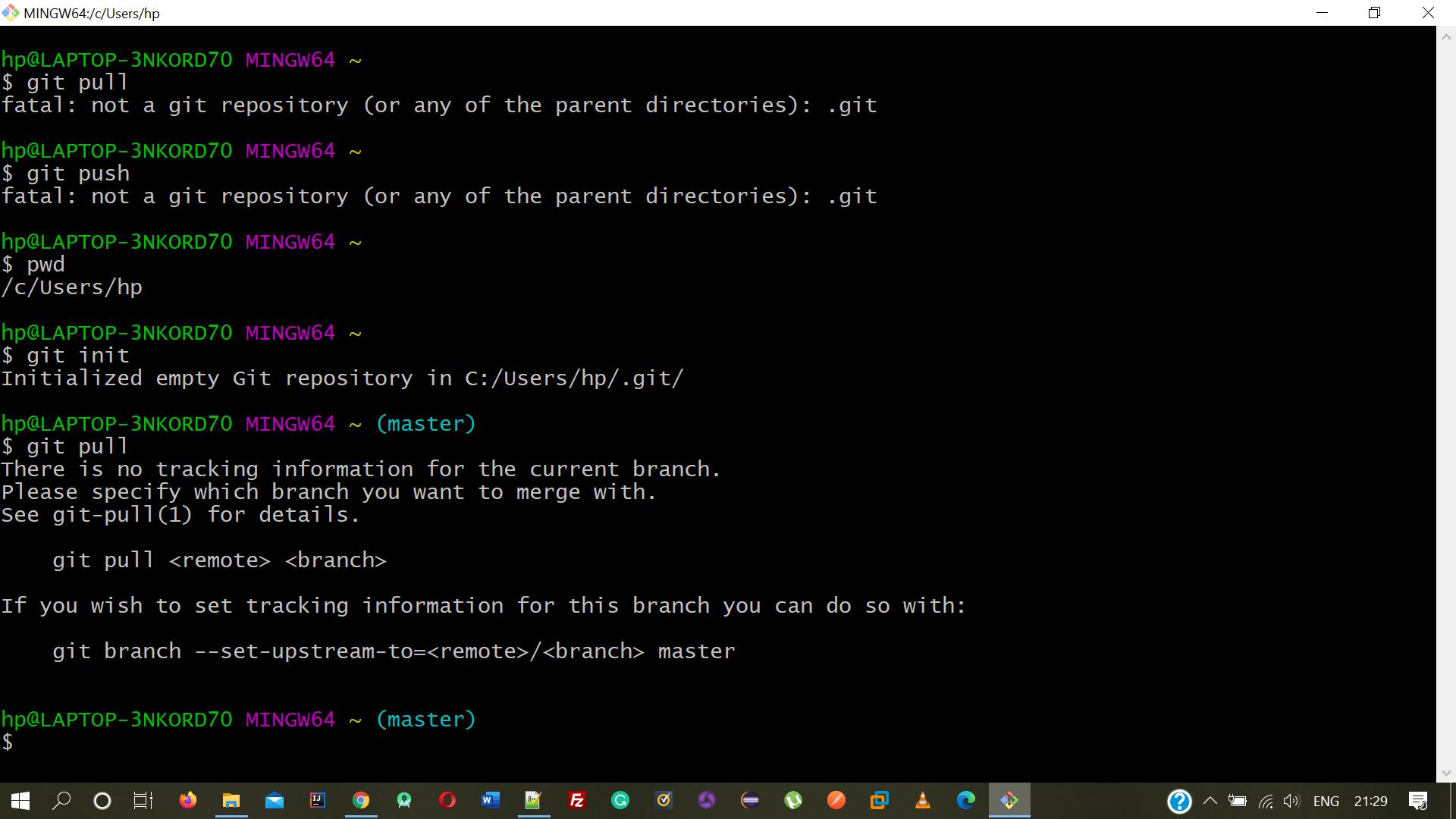 Git error