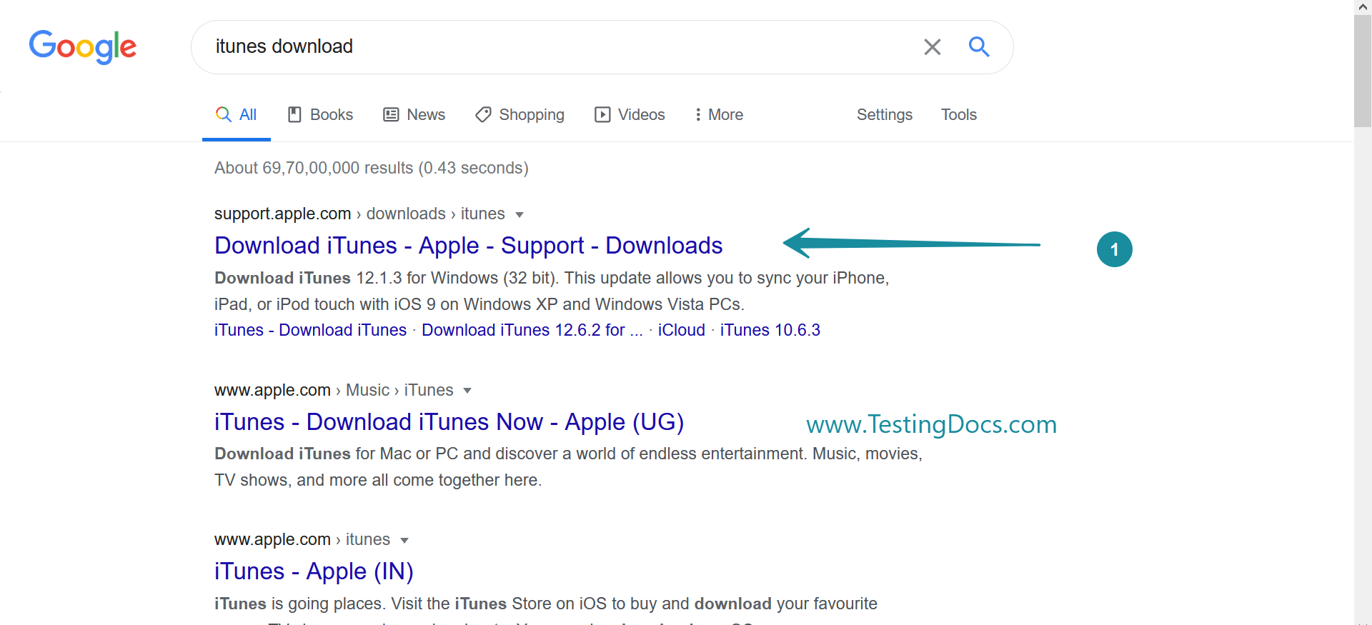 ITunes Google Download Search