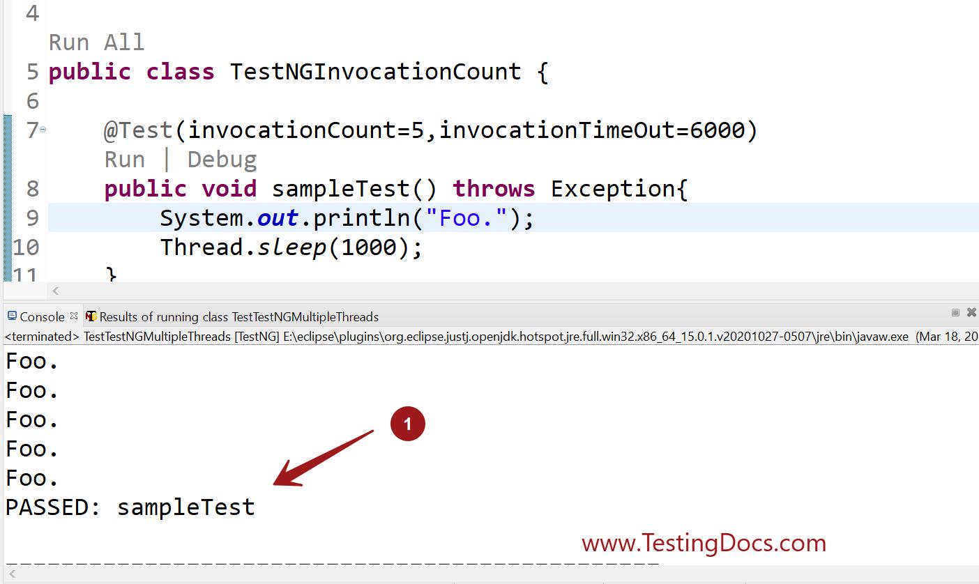invocationCount TestNG