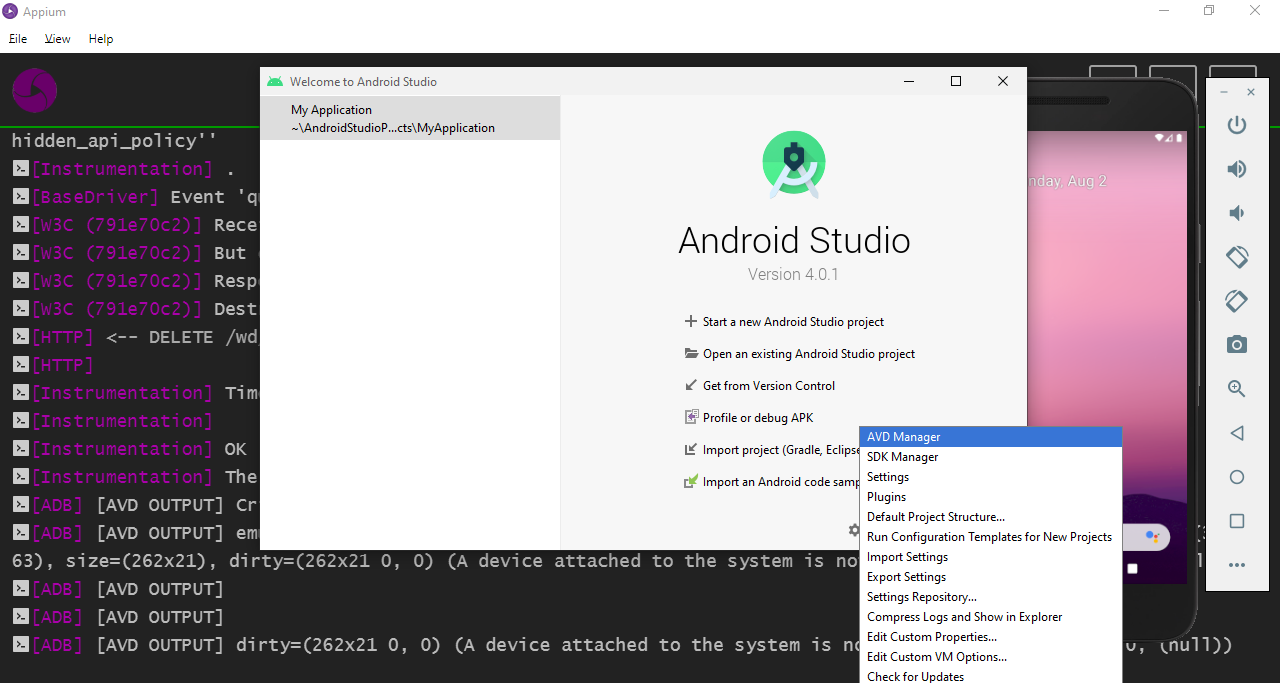 AVD Manager Android Studio