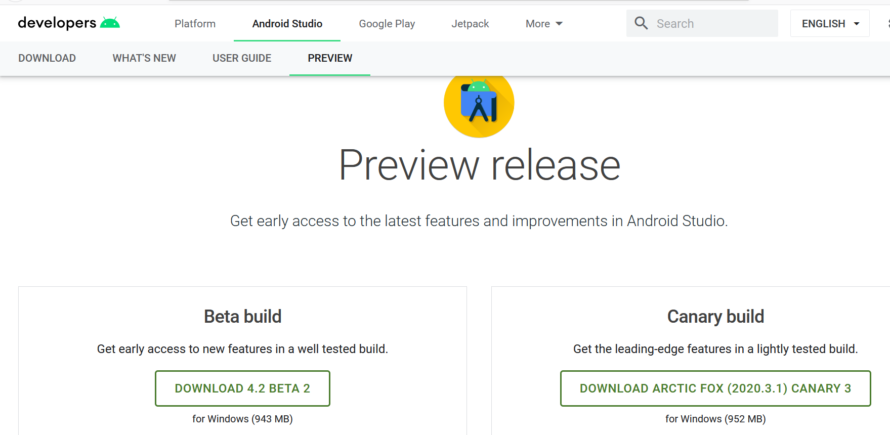Android Preview Release