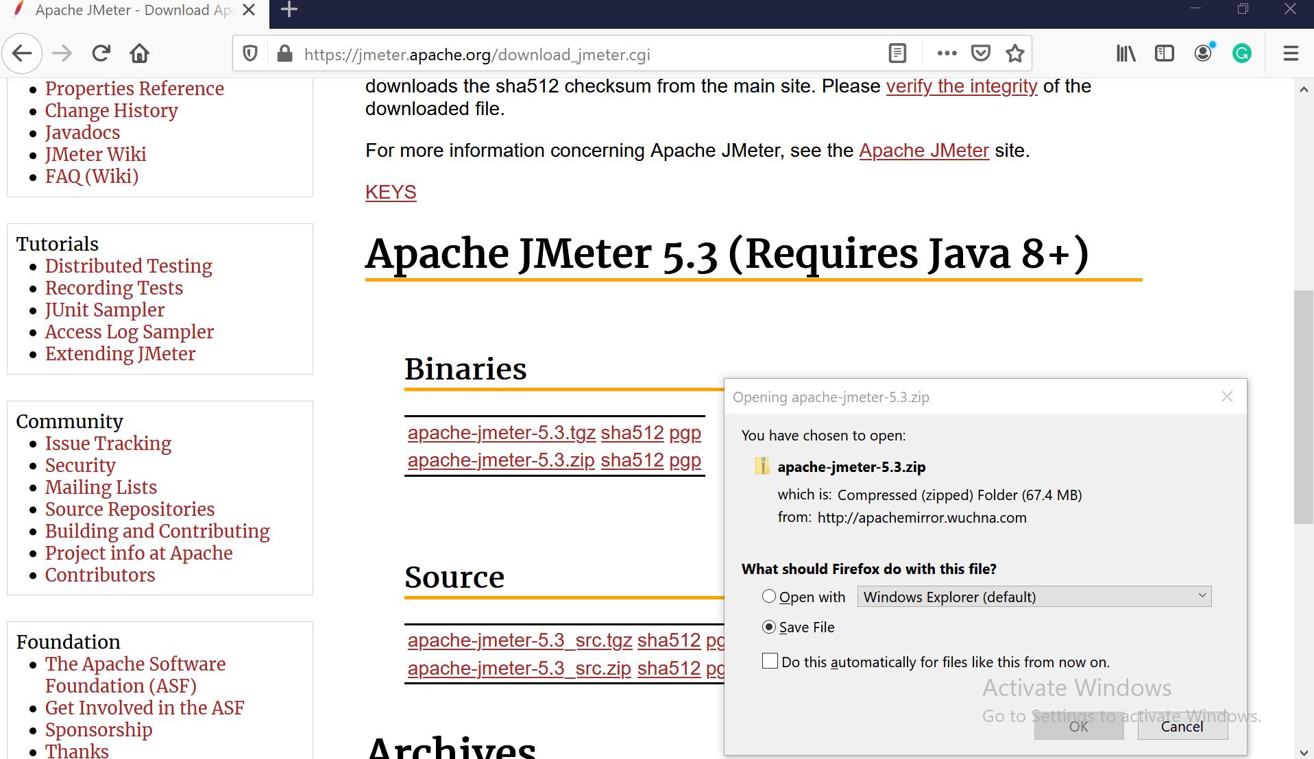 Apache JMeter Download
