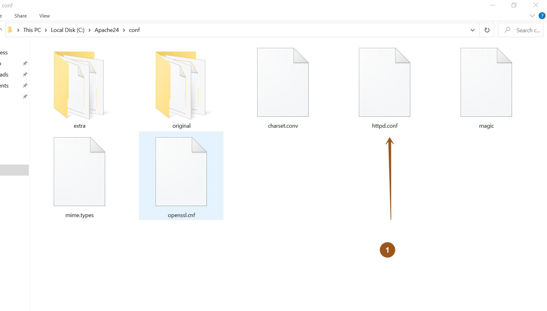 Apache conf file