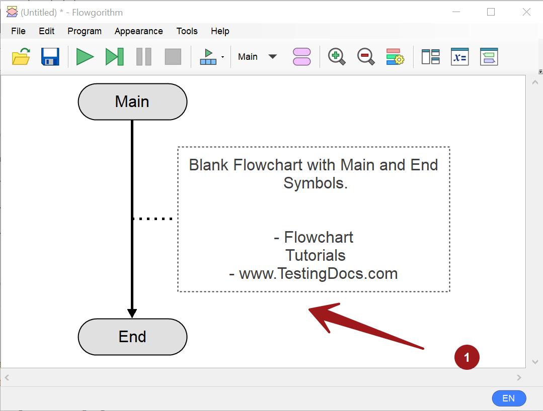 Blank Flowchart Flowgorithm