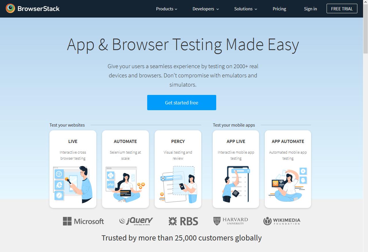 BrowserStack Website