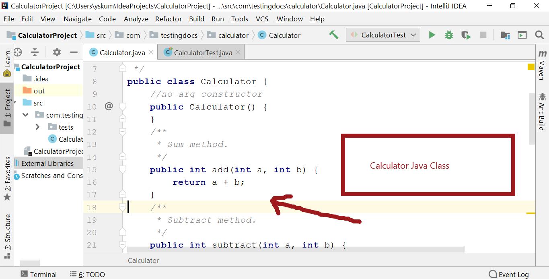 Calculator Java Class