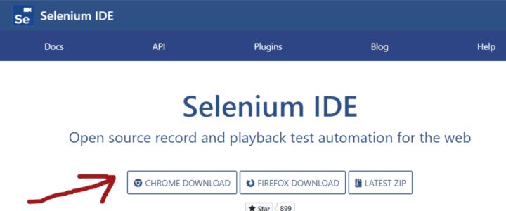 Chrome Selenium IDE Download