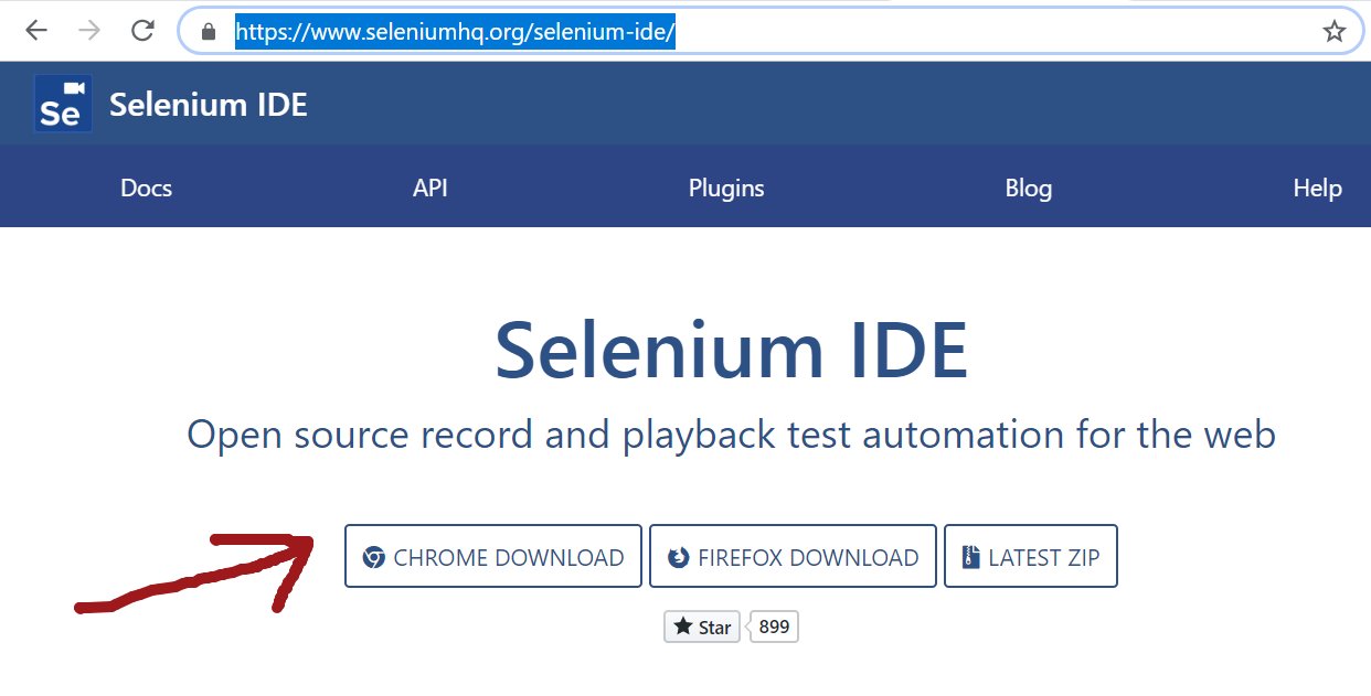 Selenium IDE for Chrome browser | TestingDocs com