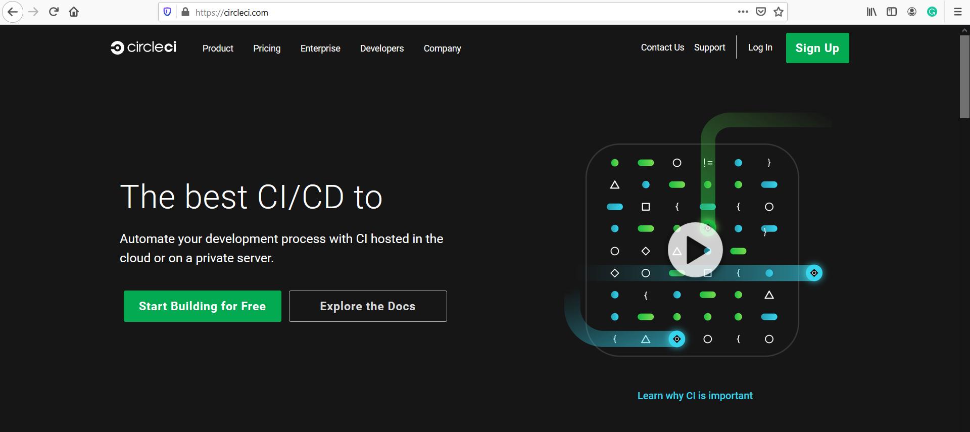 Circle CI Website