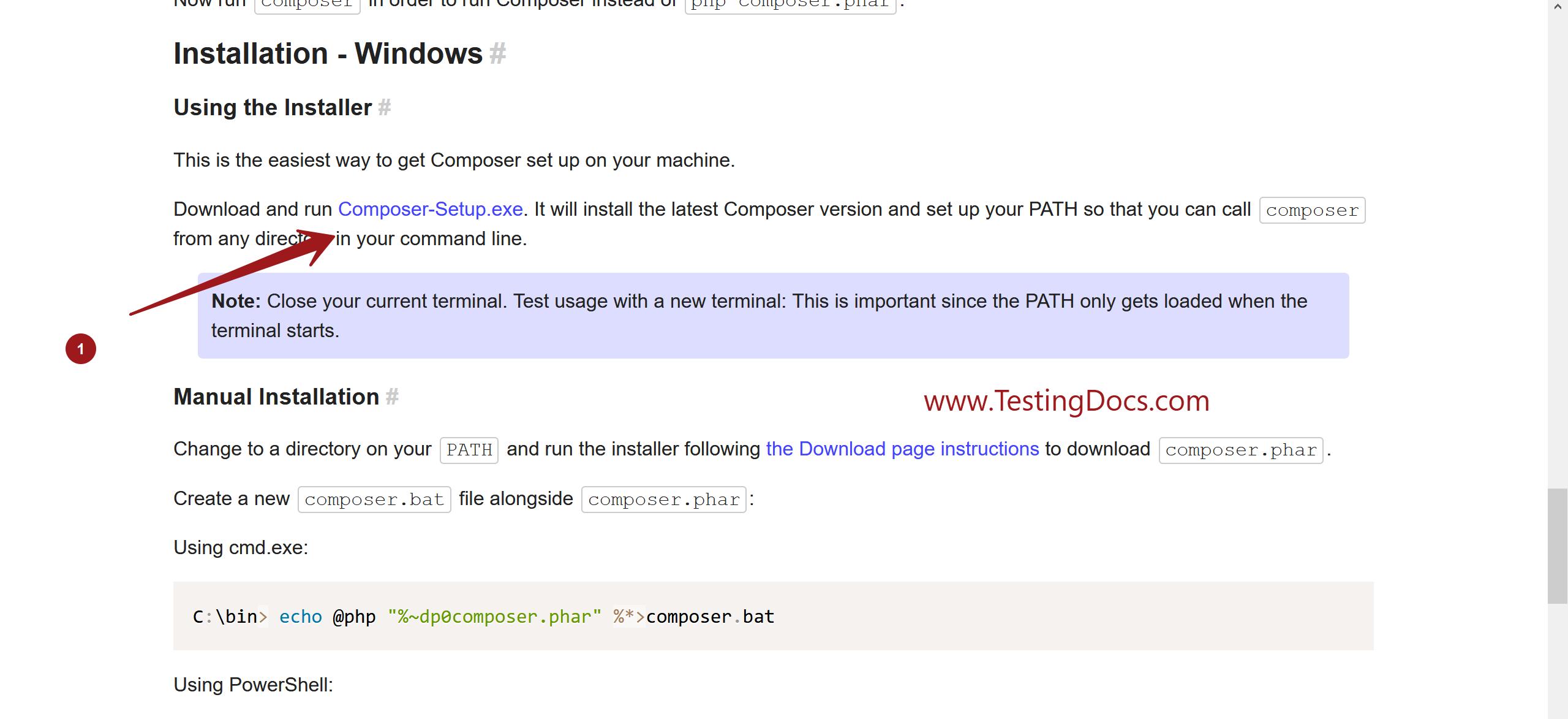 Composer Install Windows