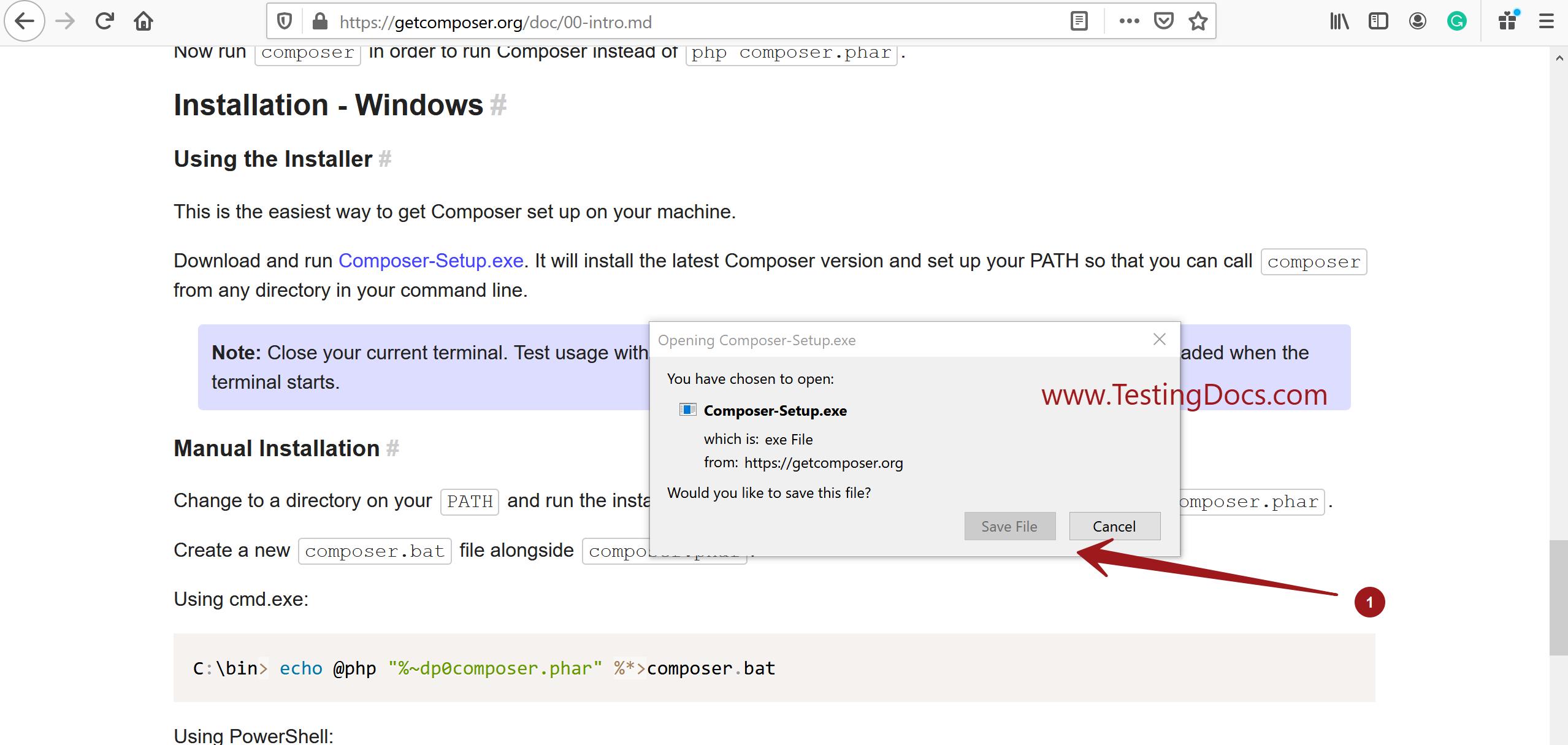 Composer Setup.exe Windows