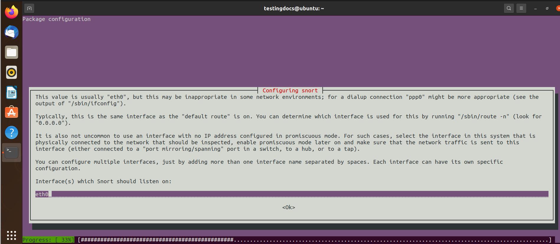 Configuring snort Ubuntu