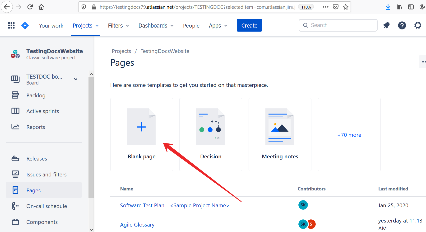 Create Confluence Page