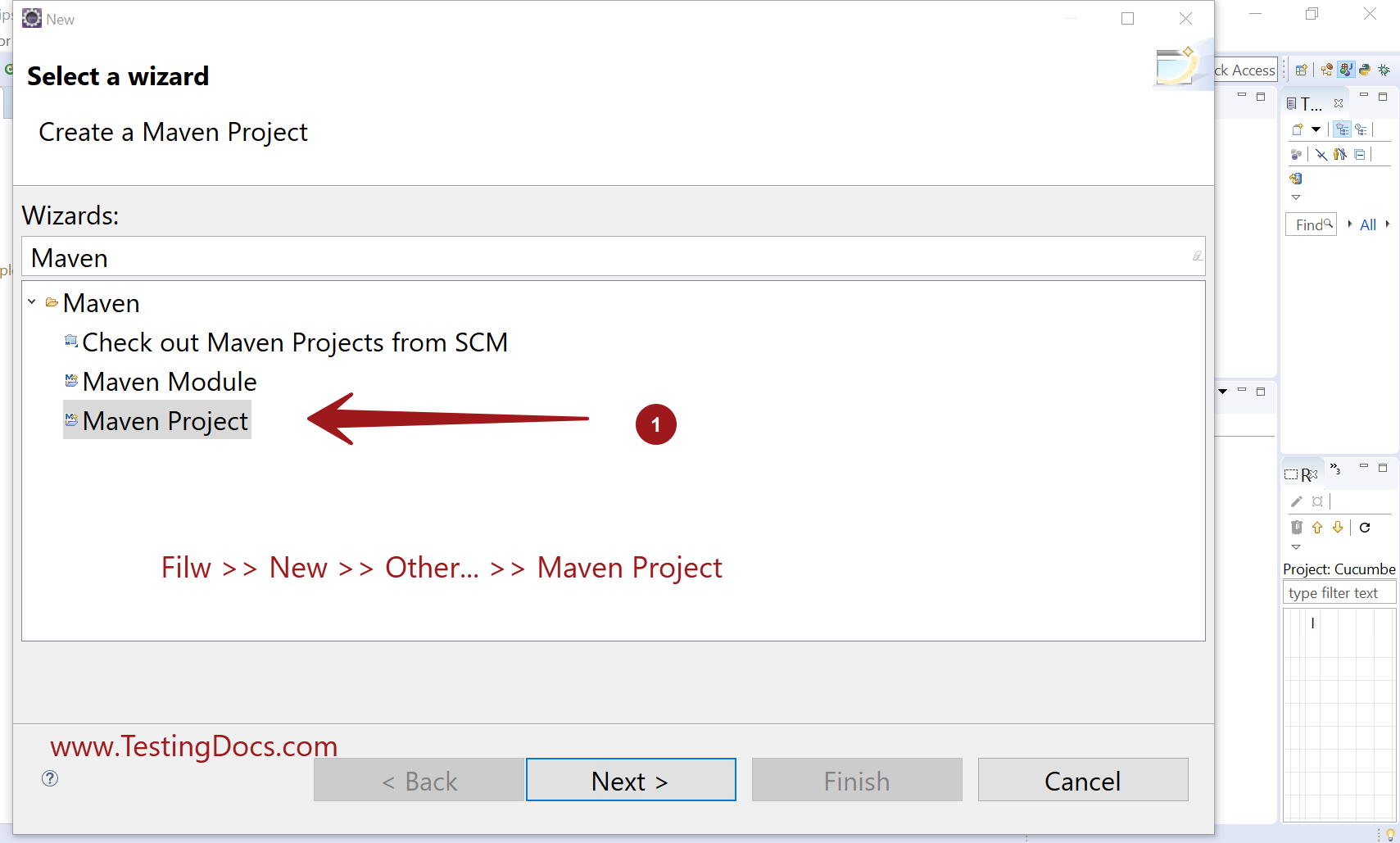 Create a New Project Eclipse